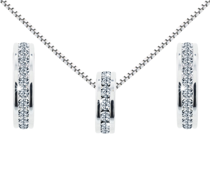 Domino pendant and earrings set diamond style domino pendant and earrings set aloadofball Image collections