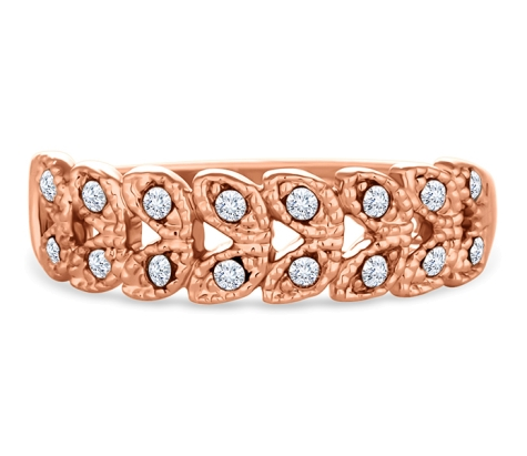 Braid Ring in Rose Gold Plate