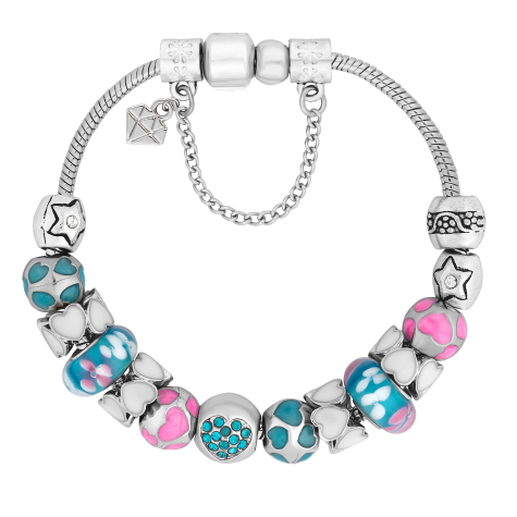 Charm Bracelet with Turquoise Charms