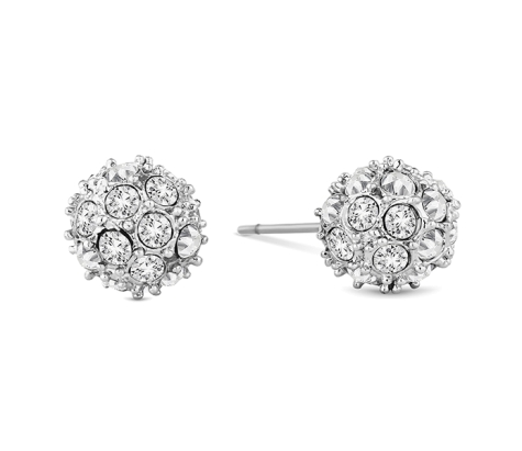 Crystal Ball Studs, Made with Swarovski Elements