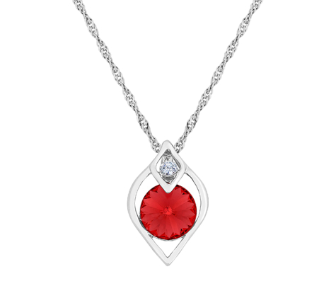 Eden Pendant with Red Crystal