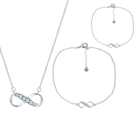 Infinity Pendant, Bracelet and Anklet