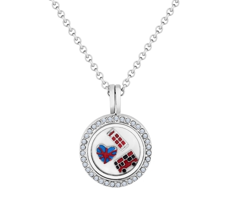 Locket Necklace with British Themed Charms