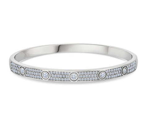 Love Bangle with Crystals