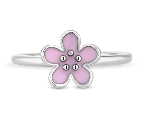 Pink Daisy Stacking Ring