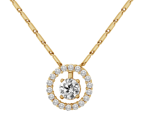 Sosltice Pendant in Yellow Gold Plating