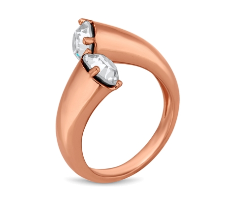 Tapered Ring in Rose Gold Plate