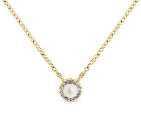 Tiny pearl pendant in gold plating