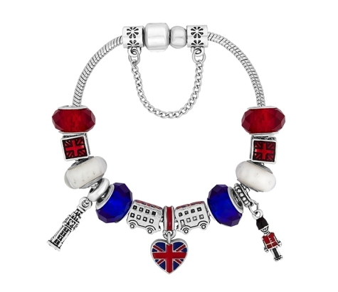 Treasure Bracelet with British Charms