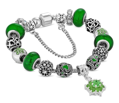 Treasure Bracelet in Green - Small Size