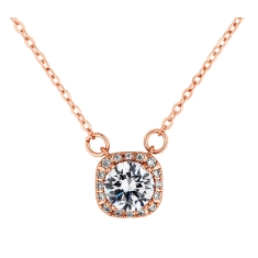 Affinity Pendant in Rose Gold Plate