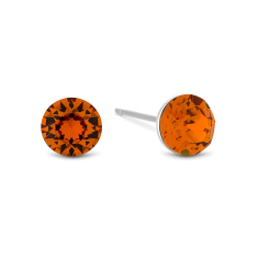 Amber Colour Crystal Studs