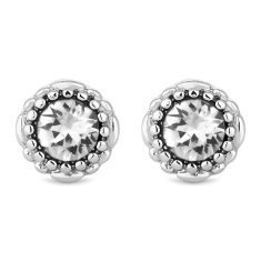 April Gemstone Stud Earrings