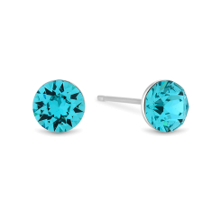 Aqua Colour Crystal Studs