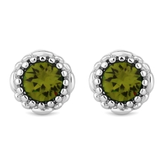 August Gemstone Stud Earrings