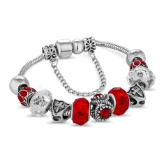 Ava Bracelet in Red - Small Size