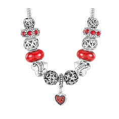 Ava Charm Necklace Red Heart