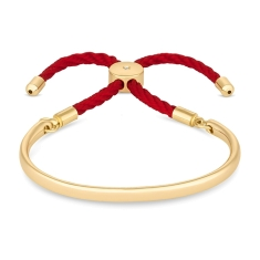 Bali Bracelet in  Gold with Red