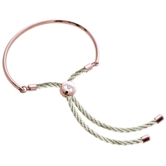 Bali Bracelet in Rose Gold with Cream