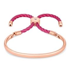 Bali Bracelet in Rose Gold with Pink