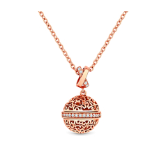 Ball Pendant with rose gold plating