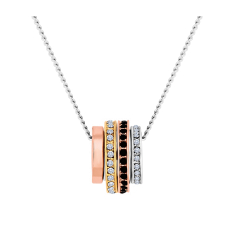 Barrel Necklace in Mixed Plating with Crystals