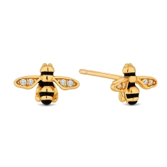 Bee Earrings in Gold Plating