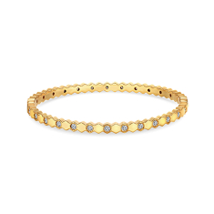 Bee Love Bangle in Gold Plating