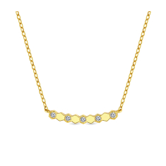 Bee Love Necklace in Gold plating