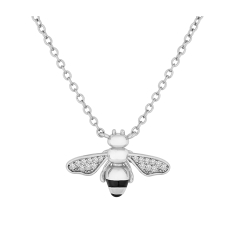 Bee Pendant in Rhodium Plating