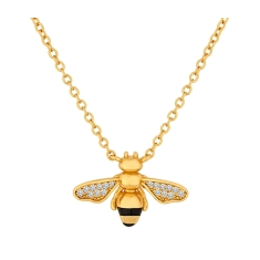 Bee Pendant in Yellow Gold Plating