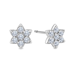 Bloom Stud Earrings with Crystals