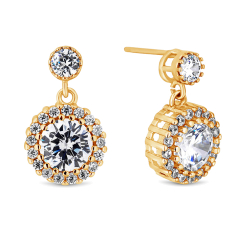Blossom Drop Earrings in Yellow Gold Plating