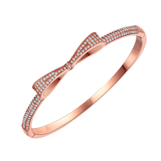 Bow Bangle in Rose Gold Plating