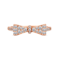 Bow Ring in Rose Gold Plate