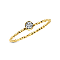 Braided ring gold in size 6