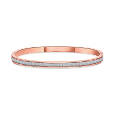 Captivate bangle in rose gold plating