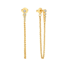 Chain Earrings in Gold Plating