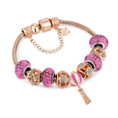 Charm Bracelet in Rose Gold
