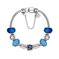 Charm Bracelet with Royal Blue and Star Beads