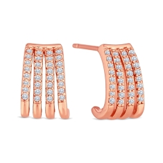 Claw Earrings in Rose Gold Plating