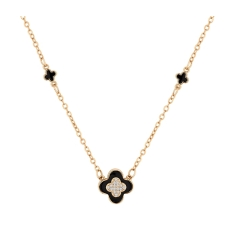 Clover Necklace in Rose Gold Plating
