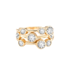 Cluster Ring in 14K Gold Plate