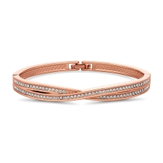 Crisscross Bangle in Rose Gold Plate