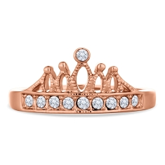 Crown Ring in Rose Gold Plate