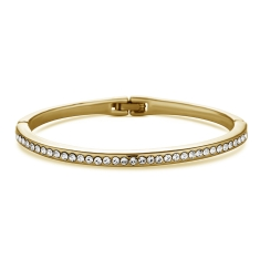 Crystal Bangle in Gold Plate