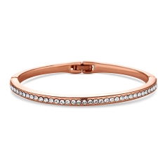 Crystal Bangle in Rose Gold Plate