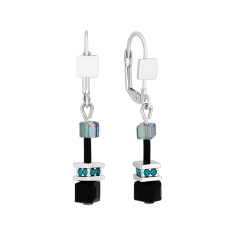 Cube Earrings in Black