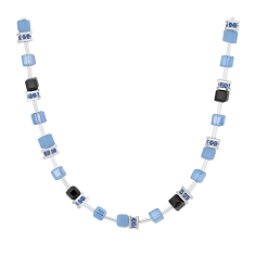 Cube Necklace in Blue