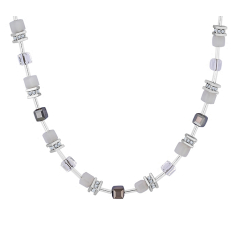 Cube Necklace in White